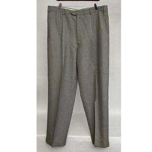 Armani Collezioni Men's Beige Pleated Dress Pants